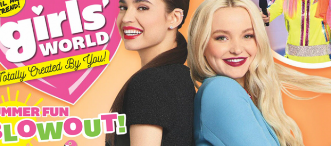 Dove Cameron e Sofia Carson são capa da revista Girls' World